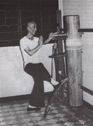 Yip Man wooden dummy